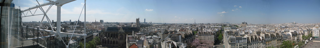 Panorama from Pompidou Center in Paris